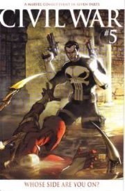 Civil War #5 Michael Turner Retail Incentive Variant Punisher